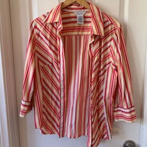 Tops - stripped button down blouse